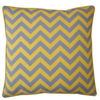 Jiti Yellow 20 x 20-inch Zig Zag Pillow