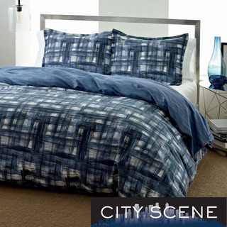 City Scene Ink Wash 3-piece Duvet Cover Set