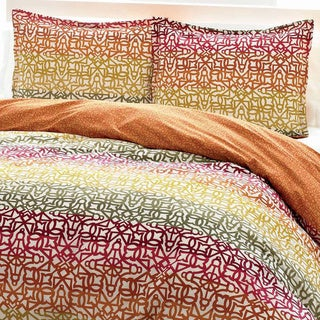 City Scene Fiesta Stripe Cotton 3-piece Duvet Cover Set