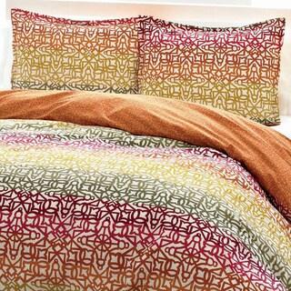 City Scene Fiesta Stripe Cotton 3-piece Duvet Cover Set