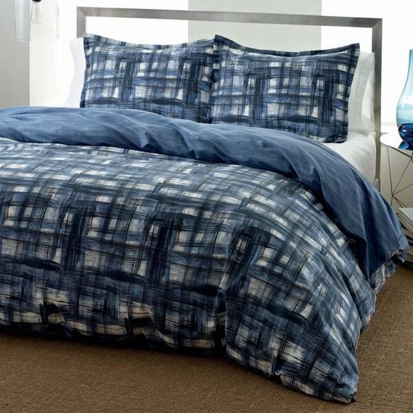 City Scene Ink Wash Reversible 3-piece Comforter Set