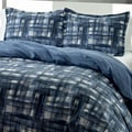 City Scene Ink Wash Reversible 3-piece Comforter Set