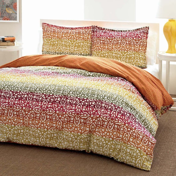 City Scene Fiesta Stripe Reversible 3-piece Comforter Set