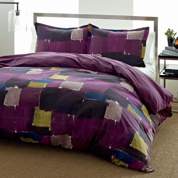 City Scene Color Block Reversible 3-piece Comforter Set
