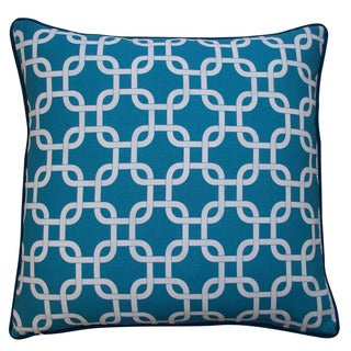 Jiti Teal 20 x 20-inch Links Pillow