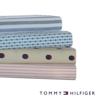 Tommy Hilfiger Cotton Percale Print Sheet Sets