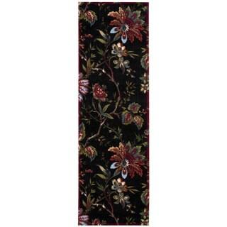 Waverly Artisal Delight by Nourison Noir Runner Rug (2'6 x 8')
