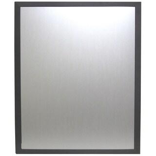 Carbon Fiber Striped 26 x 32-inch Framed Mirror