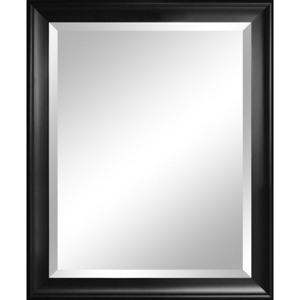 Symphony Black Framed Wall Mirror with Beveled Glass 11774002
