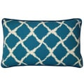 Jiti Teal 12 x 20-inch Net Decorative Pillow
