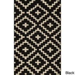 Mersa Diamonds Flat Weave Wool Dhurry Rug (8' x 10')