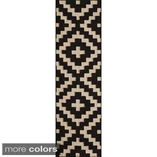 Mersa Diamonds Flat Weave Wool Dhurry Rug (2'3 x 8')