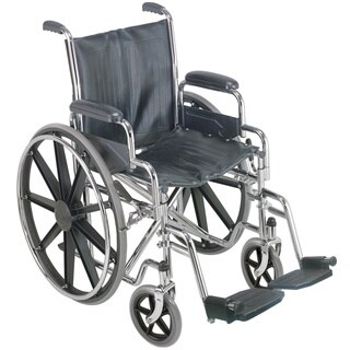 DMI 18-inch Wheelchair with Removable Desk Arms