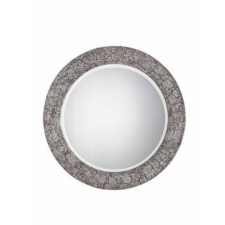 XO Collection Wall Mirror in Brushed Steel