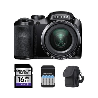 Fujifilm FinePix S8400W WiFi 16.2MP Black Digital Camera 16GB Bundle