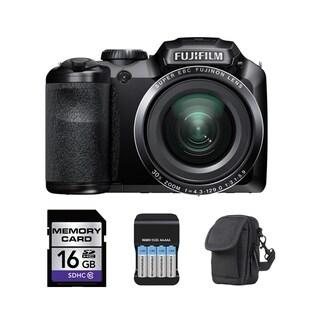 Fujifilm FinePix S8400W WiFi 16.2MP Black Digital Camera 16GB Bundle