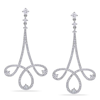 Miadora Signature Collection 14k White Gold 1 1/4ct TDW Diamond Chandelier Drop Earrings (G-H, SI1-SI2)
