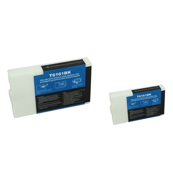 INSTEN Black Ink Cartridge for Epson T616100 (Remanufactured) (Pack of 2)