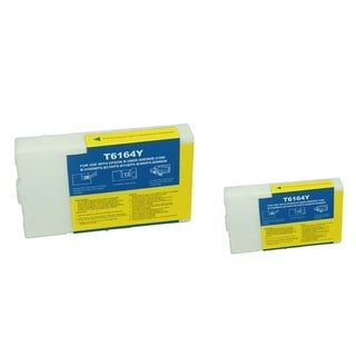 BasAcc Yellow Ink Cartridge Compatible with Epson T616400 (Remanufactured) (Pack of 2)