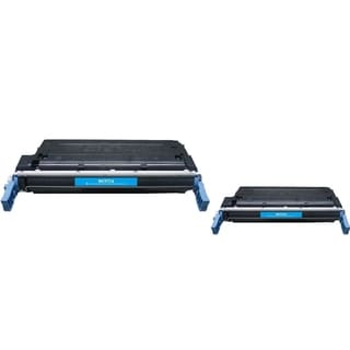 INSTEN Cyan Toner Cartridge for HP C9721A (Pack of 2)