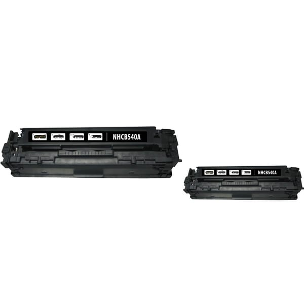 INSTEN Black Toner Cartridge for HP CB540A/ Canon 125A (Pack of 2)