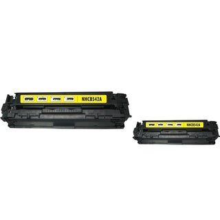 BasAcc Yellow Toner Cartridge Compatible with HP CB542A/ Canon 125A (Pack of 2)