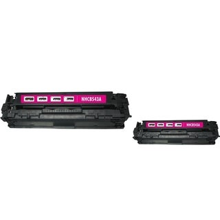 BasAcc Magenta Toner Cartridge Compatible with HP CB543A/ Canon 125A (Pack of 2)