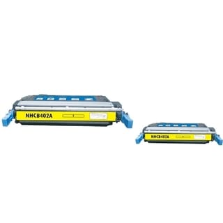 BasAcc Yellow Toner Cartridge Compatible with HP CE402A (Pack of 2)