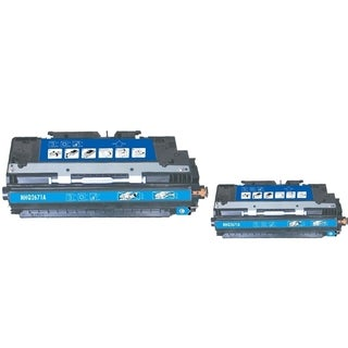 INSTEN Cyan Toner Cartridge for HP Q2671A (Pack of 2)