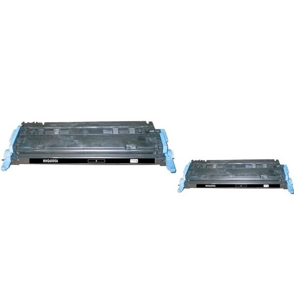 INSTEN HP Q6000A Black Toner Cartridge for (Pack of 2)