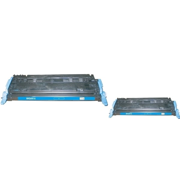 INSTEN Cyan Toner Cartridge for HP Q6001A (Pack of 2)