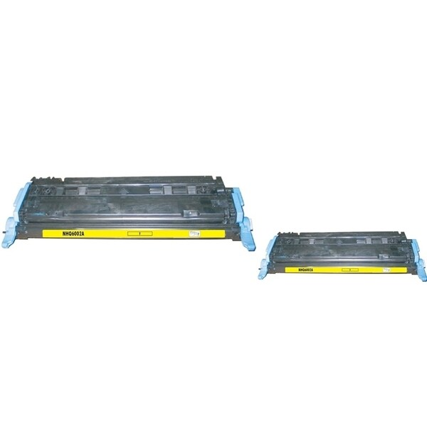 INSTEN Yellow Toner Cartridge for HP Q6002A (Pack of 2)