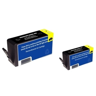 INSTEN Black Ink Cartridge for HP 564XL (Remanufactured) (Pack of 2)