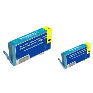 BasAcc Cyan Ink Cartridge for HP 564XL (Remanufactured) (Pack of 2)