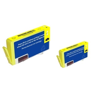 BasAcc Yellow Ink Cartridge for (Remanufactured) HP 564XL (Pack of 2)