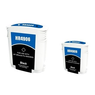 INSTEN Black Ink Cartridge for HP 940XL (Remanufactured) (Pack of 2)