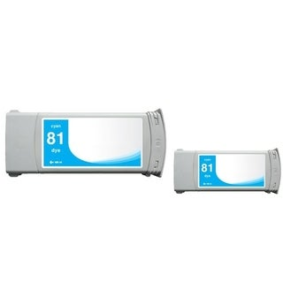 INSTEN Cyan Ink Cartridge for HP C4931A (Remanufactured) (Pack of 2)