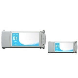 INSTEN Light Cyan Ink Cartridge for HP C4934A (Remanufactured) (Pack of 2)