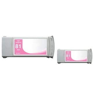 INSTEN Light Magenta Ink Cartridge for HP C4935A (Remanufactured) (Pack of 2)