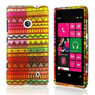 BasAcc Geometric Aztec Rubber Coated Case for Nokia Lumia 521