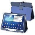 BasAcc Blue Leather Case with Stand for Samsung� Galaxy Tab 3 10.1