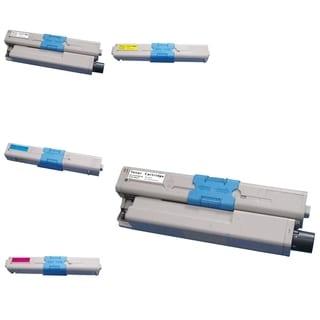 Insten Premium 2BCMY Color Toner Cartridge 44469802/ 44469721/ 44469720/ 44469701 for Okidata C530/ C530dn