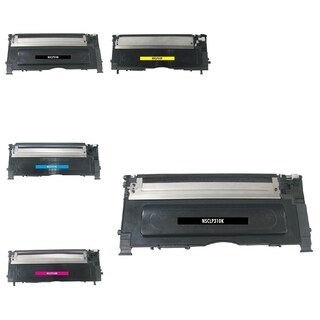 BasAcc 5-ink Cartridge Set Compatible with Samsung CLP-315