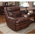 At Home Designs Saddle Brown Clarkston Recliner