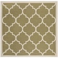 Safavieh Indoor/ Outdoor Courtyard Green/ Beige Area Rug (4' Square)