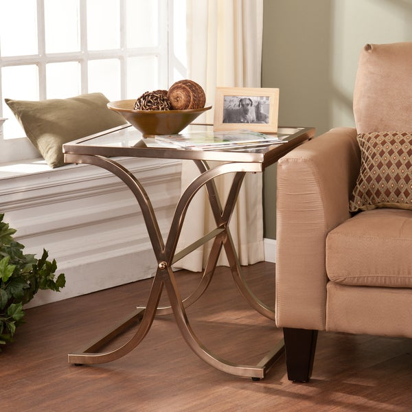 Upton Home Ambrosia Champagne Brass End Table