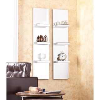 Upton Home Anniston Mirrored Wall Shelf 2pc Set