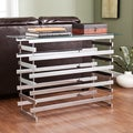 Upton Home Hayes Chrome Glass Console/ Sofa Table