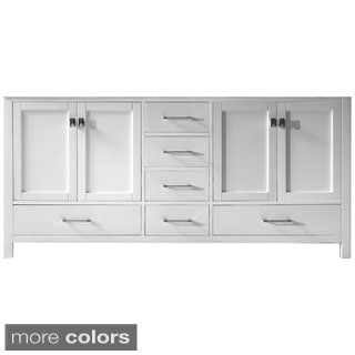 Virtu USA Caroline Avenue 72-inch Double Sink Bathroom Cabinet Only