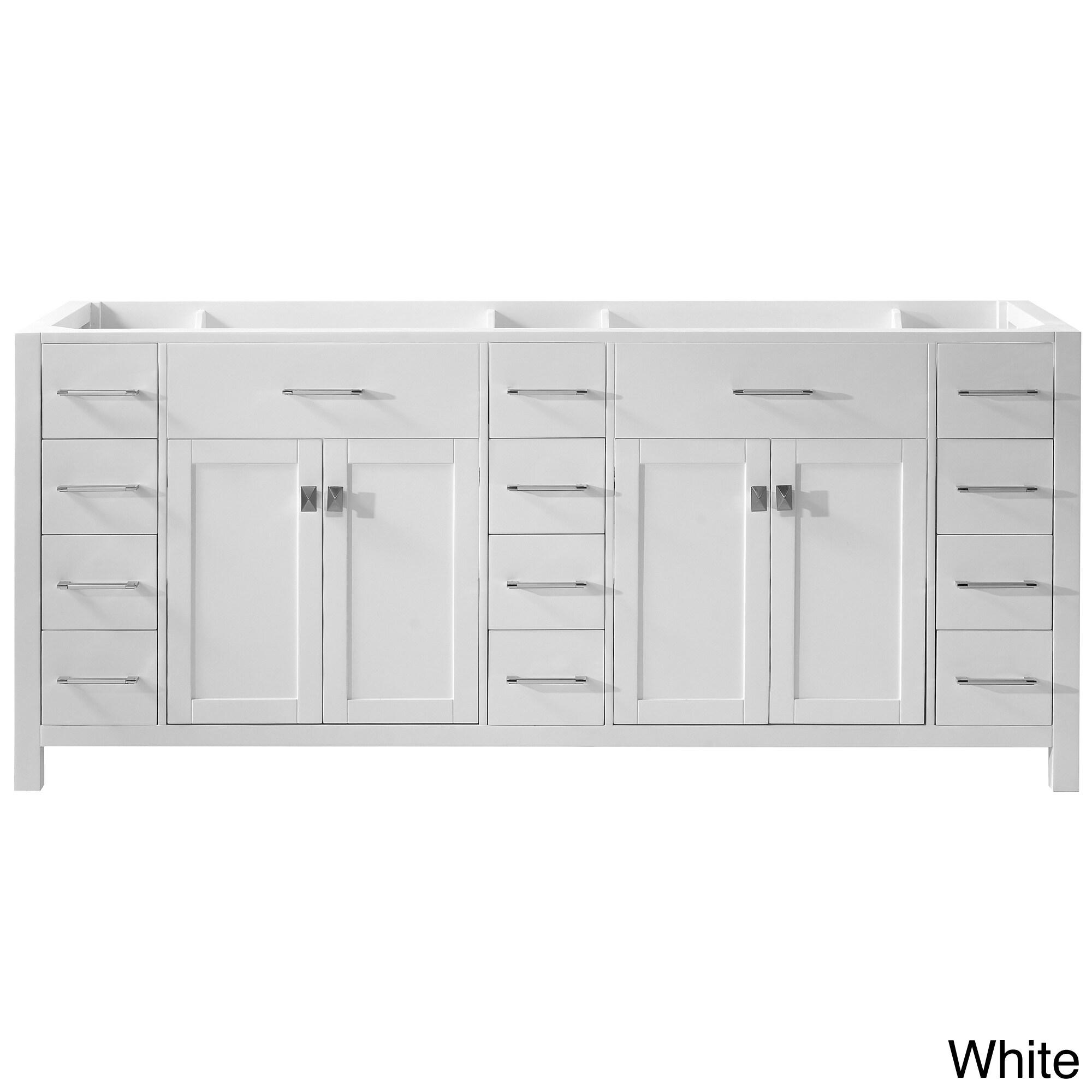 caroline parkway 78 inch double sink bathroom vanity cabinet